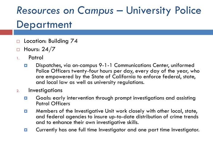 Resources on Campus
