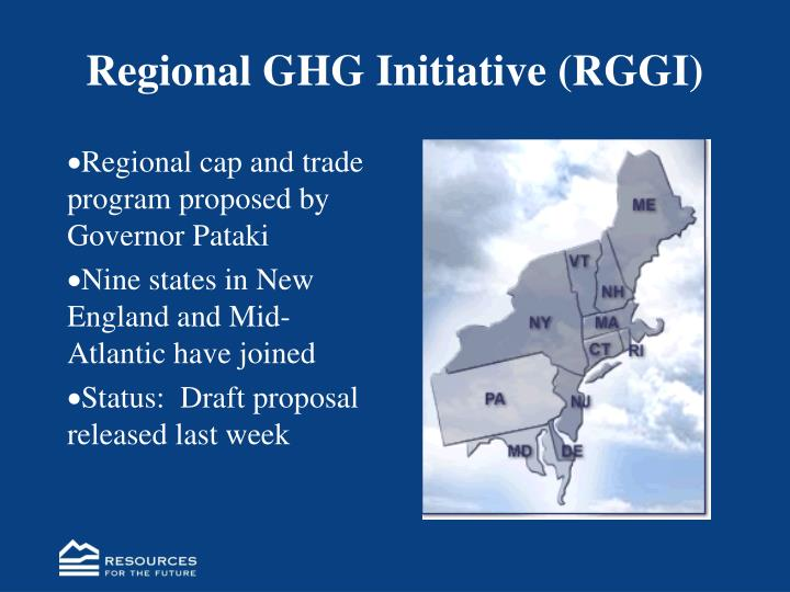 Regional GHG Initiative (RGGI)
