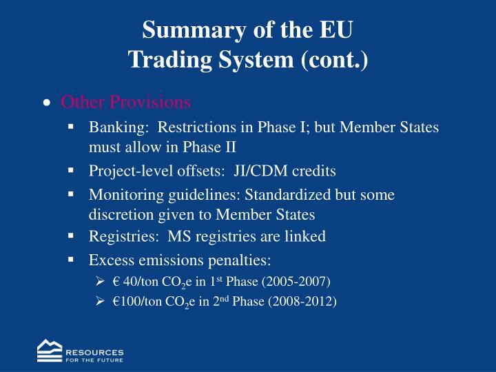 Summary of the EU