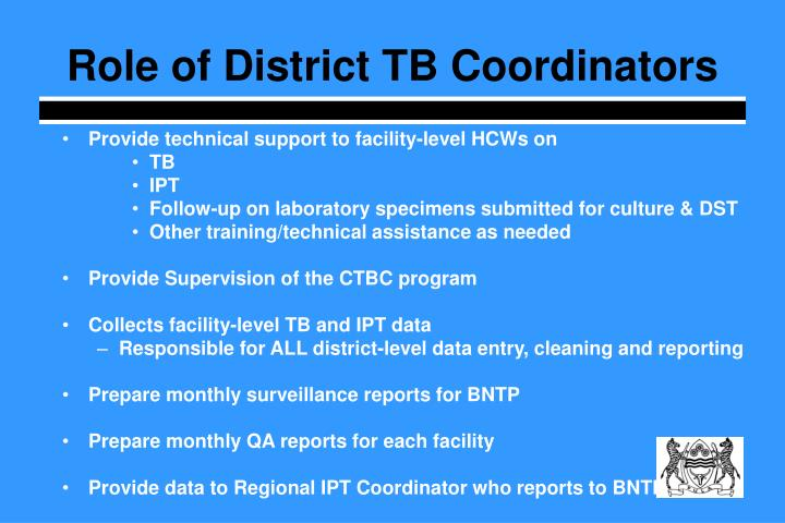 Role of District TB Coordinators