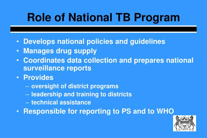 Role of National TB Program