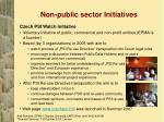 non public sector initiatives