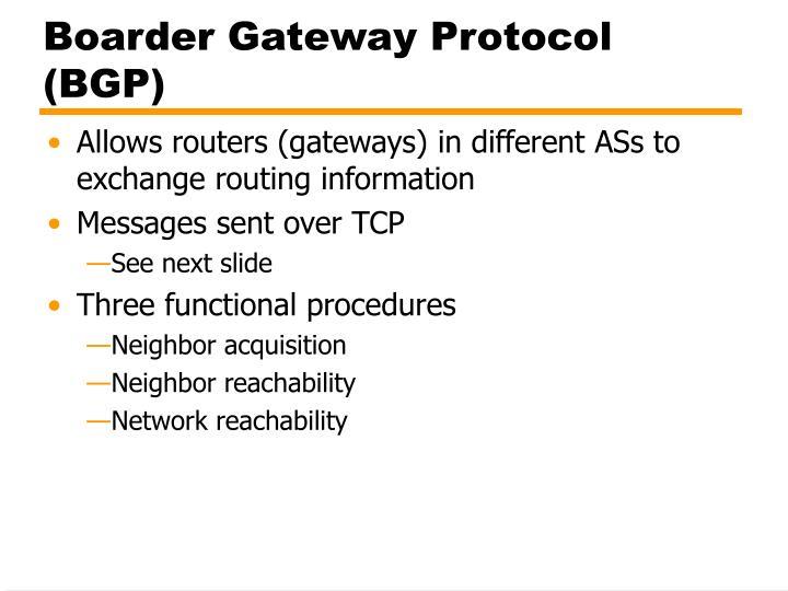 Boarder gateway protocol bgp