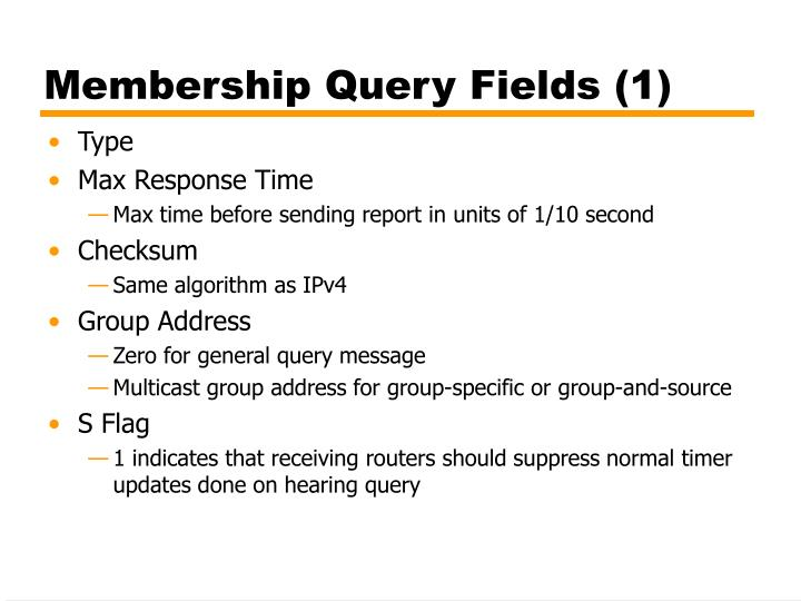 Membership Query Fields (1)
