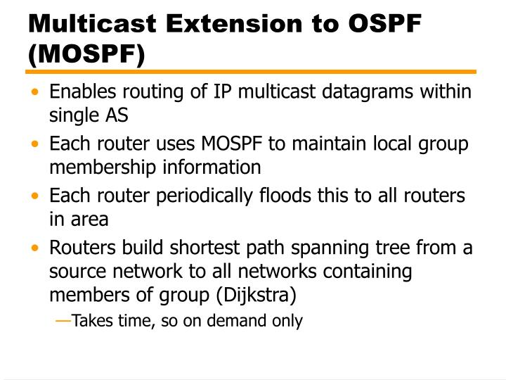 Multicast Extension to OSPF (MOSPF)