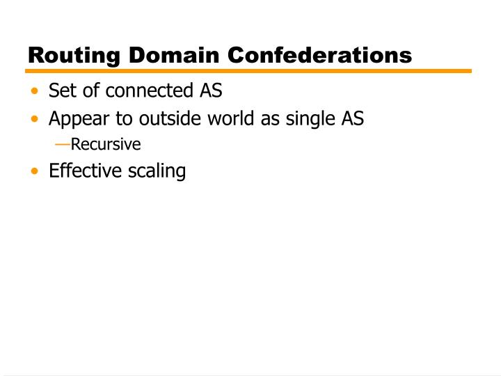 Routing Domain Confederations
