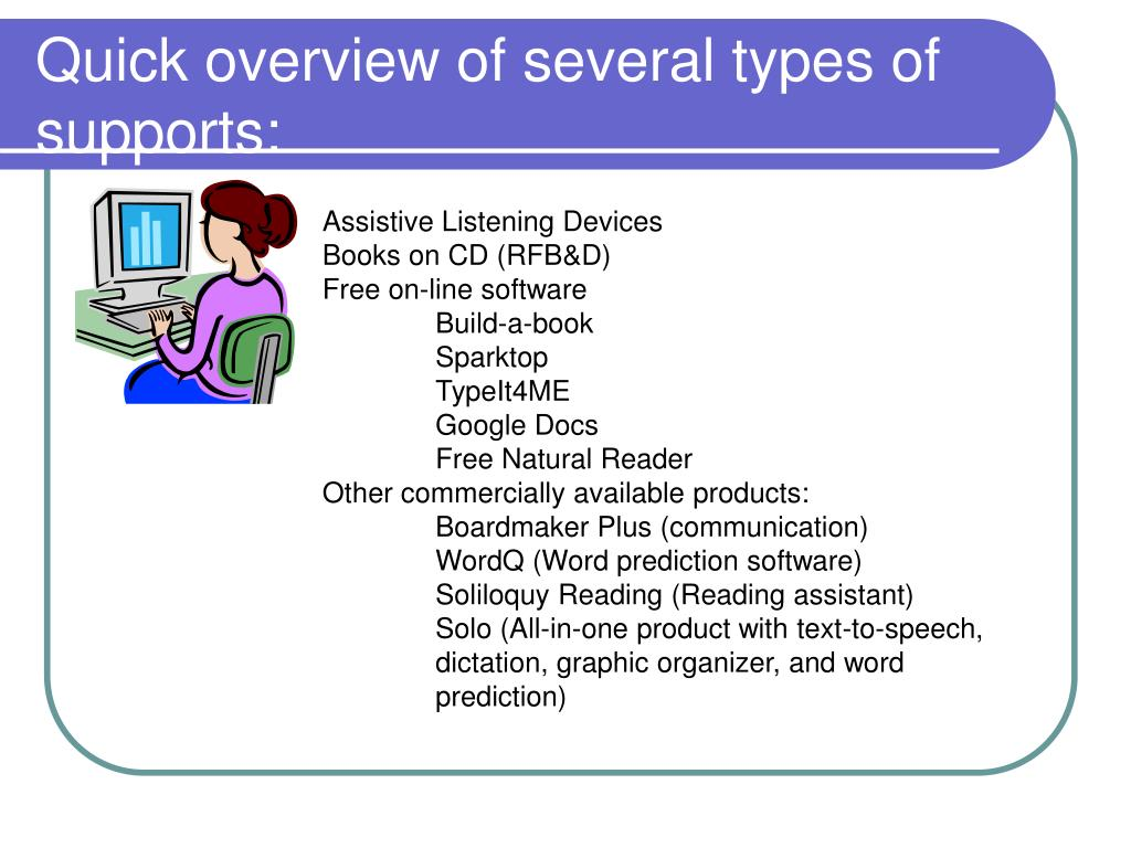 Ppt Assistive Technology To Support Students With