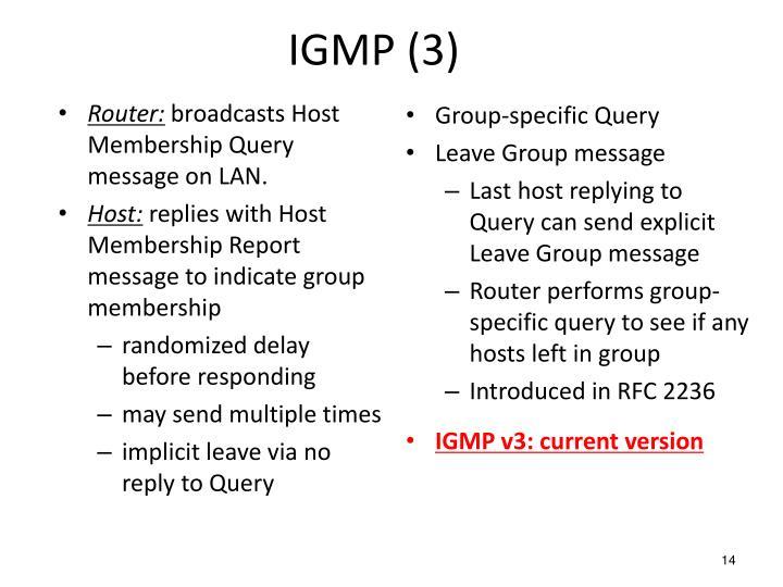IGMP (3)