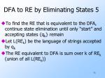 dfa to re by eliminating states 5