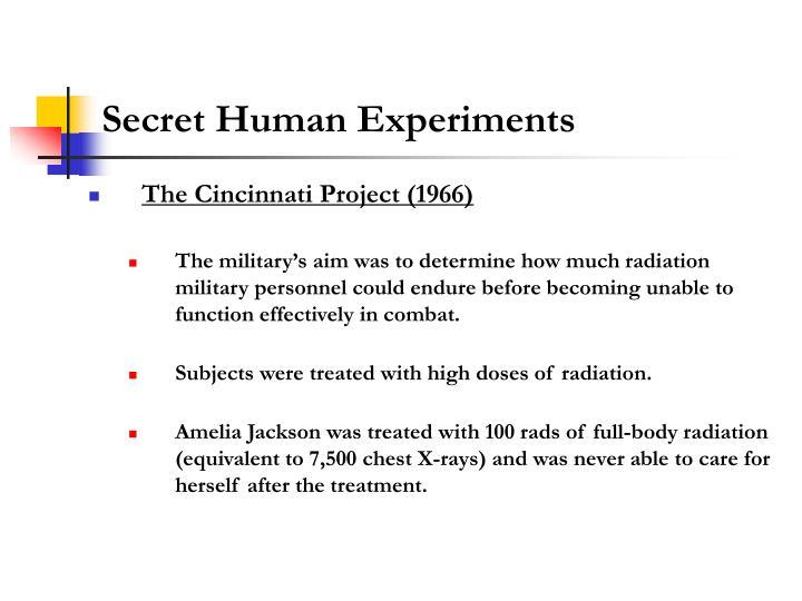 Secret Human Experiments