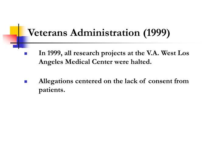 Veterans Administration (1999)