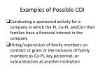 examples of possible coi