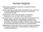 human subjects1