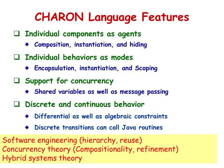 CHARON Language Features