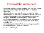 electrostatic interactions1
