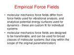 empirical force fields4