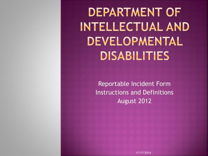 department of intellectual and developmental disabilities n.