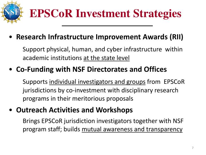 EPSCoR Investment Strategies