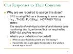 our responses to their concerns4