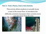 part 2 find a plume find a vent activity