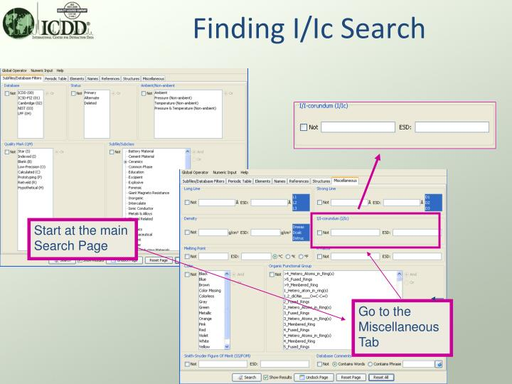 Finding I/Ic Search