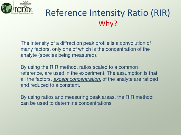 Reference intensity ratio rir why