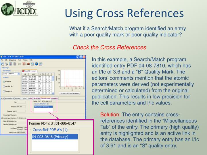 Using Cross References