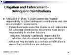litigation and enforcement delinquent contributions1
