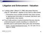 litigation and enforcement valuation1