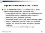 litigation investment fraud madoff