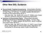other new dol guidance1