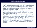 investment themes for 2011