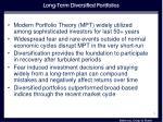 long term diversified portfolios