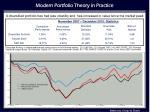 modern portfolio theory in practice