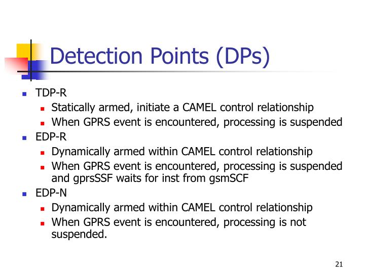Detection Points (DPs)