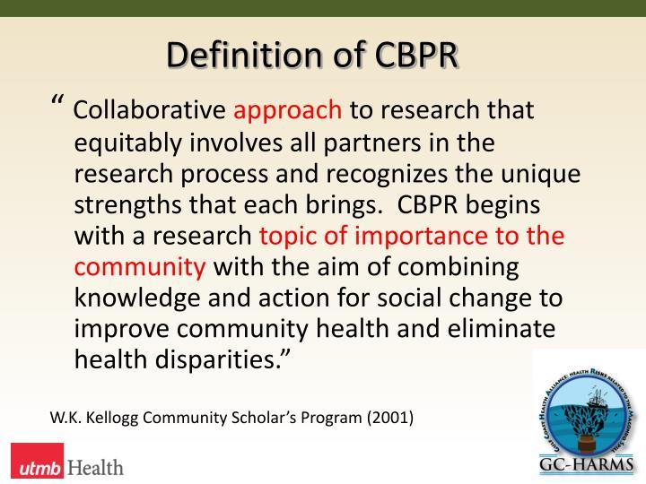 Definition of cbpr