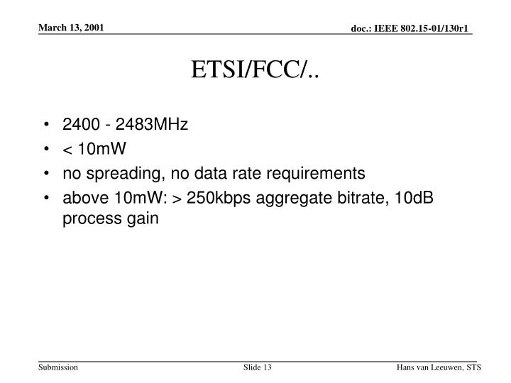 ETSI/FCC/..