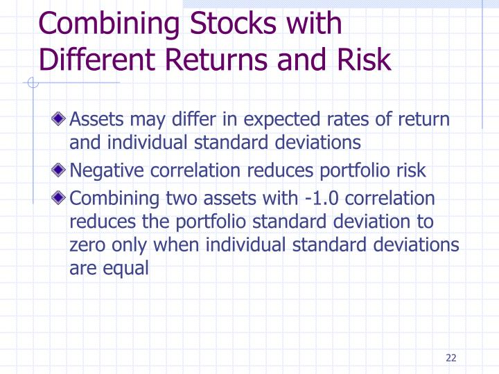 Combining Stocks with Different Returns and Risk