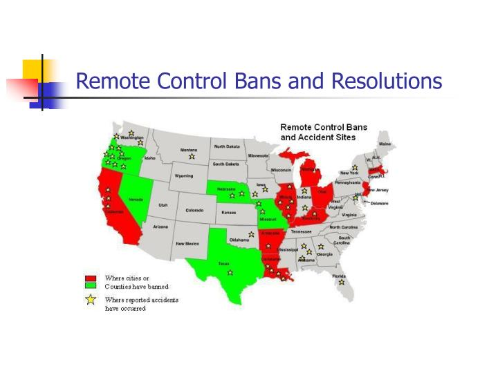 Remote Control Bans and Resolutions