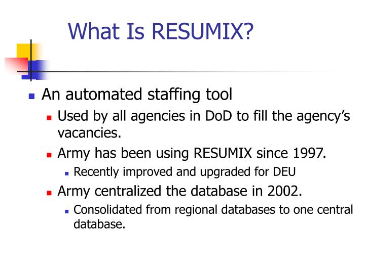 What is resumix