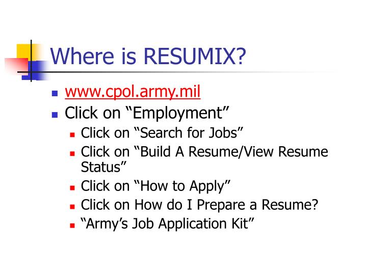 Where is RESUMIX?
