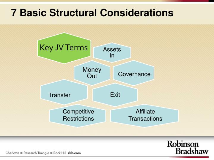7 basic structural considerations