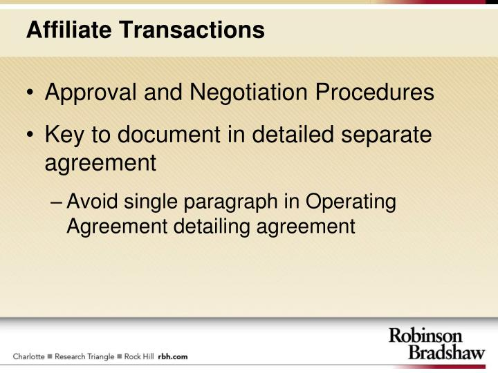 Approval and Negotiation Procedures