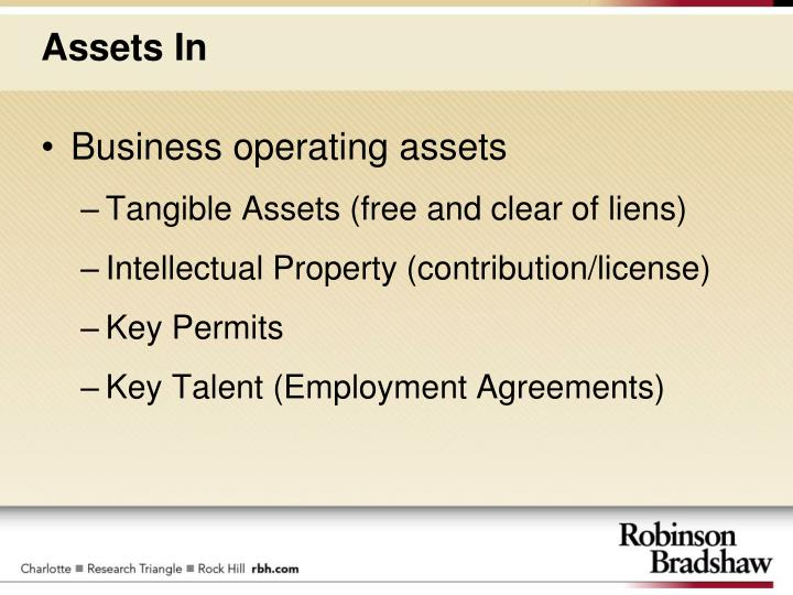 Business operating assets