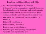 randomized block design rbd