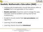 realistic mathematics education rme treffers 1987