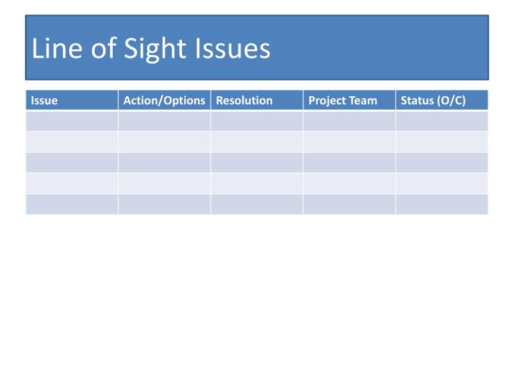 Line of Sight Issues