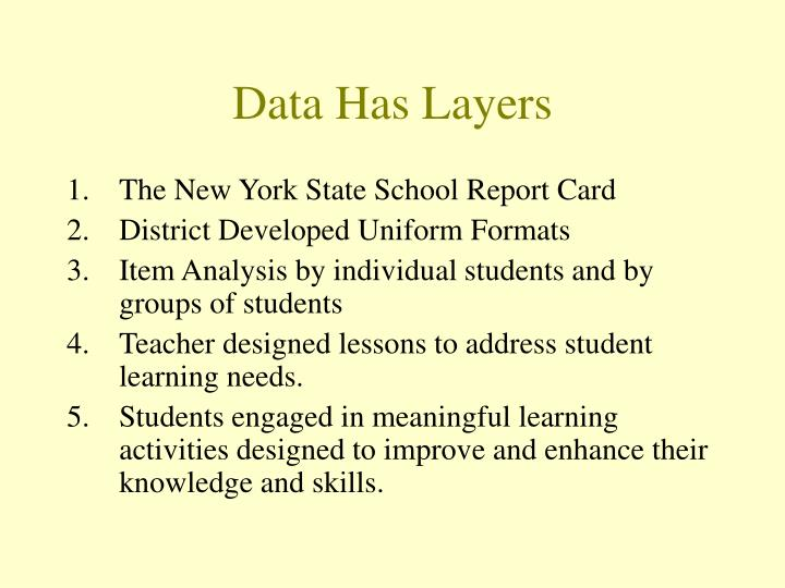 Data has layers