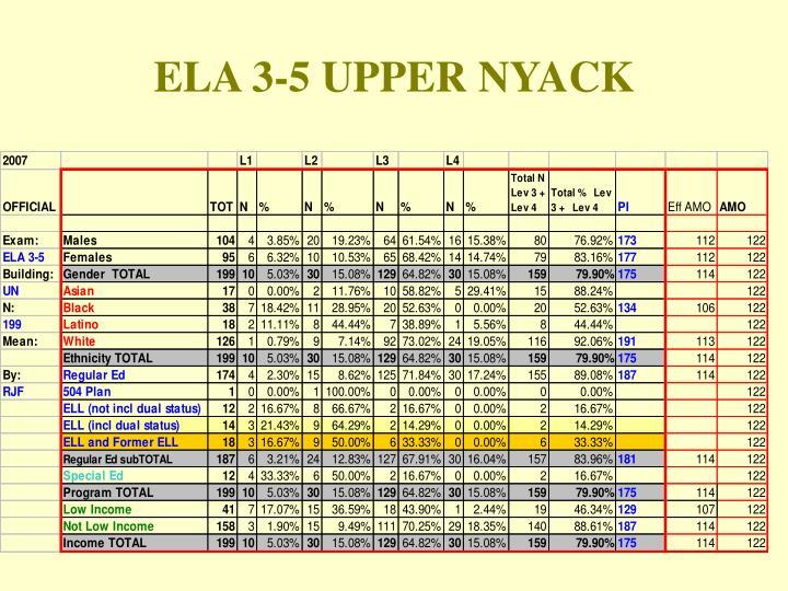 ELA 3-5 UPPER NYACK