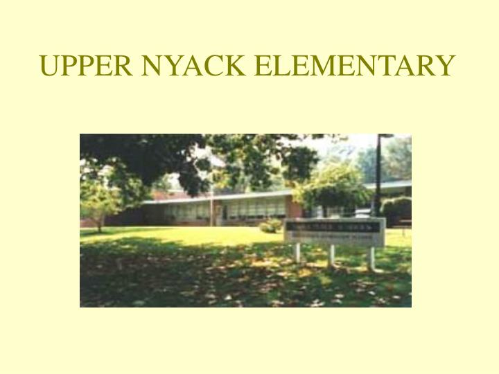 UPPER NYACK ELEMENTARY